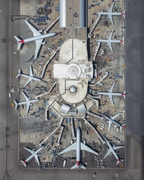 An Overhead View of Terminal  at LAX