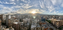 An panorama photo of sunrise in Tripoli Lebanon