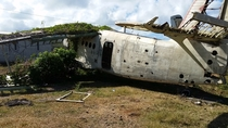 AN-R located in Grenada at the Pearls Airport  shot today One other shot of the cockpit with vines destroying everything