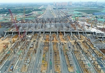 An Railway Station Under Construction in Jinan China