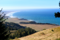 An undeveloped stretch of rugged coastline in rural Northern California