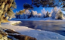 An unknown wintry river