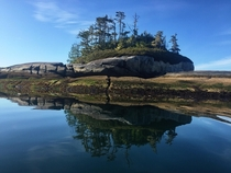 An unnamed island in Broughton Archipelago British Columbia Canada