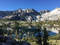 An unnamed lake near Sawmill Pass Sierra Nevadas California USA