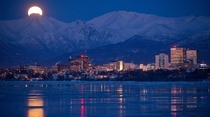 Anchorage Alaska - Frozen city by night credit Marc Lester