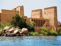 Ancient civilization beside the nile river Luxor Egypt