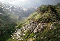 Ancient Kurdish village in Hawraman Iran
