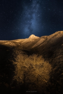 Ancient Landscapes at Night in Rodeo Argentina