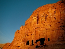Ancient Nabataen architecture in Petra Jordan