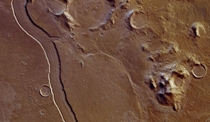 Ancient riverbed on Mars