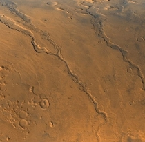 Ancient riverbeds from when water once flowed on Mars