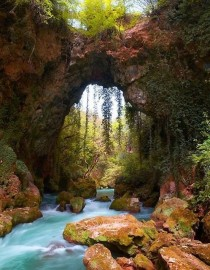 Ancient Stone Bridge Epirius Greece