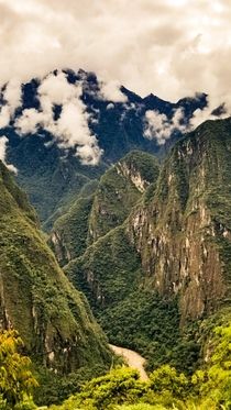 Andes mountains of Peru near Machu Picchu
