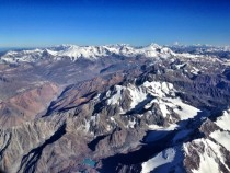 Andes Mountains Over the Chile-Argentina Border