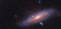 Andromeda and its Third  sattelite galaxy top left