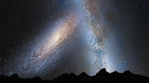 Andromeda galaxy in  billion years