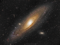 Andromeda Galaxy in HaLRGB total of  hours exposure
