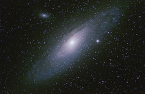 Andromeda M which is  million light years away Equipment mm apochromatic refractor captured with   second exposures