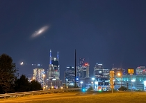 Andromeda over Nashville if it were bright enough to see with the naked eye