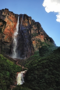Angel Falls in Venezuela is the worlds tallest at  m