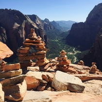 Angels Landing at Zion National Park Utah
