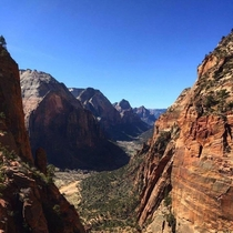 Angels Landing looking like a scene from Jurassic Park Zion National Park Utah xOC