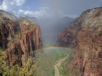 Angels Landing Rainbow Zion National Park UT