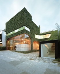 Ann Demeulemeester Shop surrounded by vertical gardens Cheongdam Ward Gangnam District Seoul South Korea