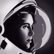 Anna Fisher first mother in space Digital art by lousflow_art