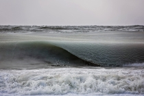 Another amazing pic of the slushy Waves of Nantucket by Jonathon Nimerfroh