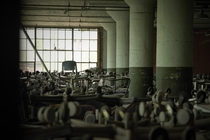 Another angle of Albany NY warehouse with hundreds of office chairs