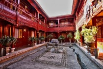 Another beautiful old hotel courtyard Lijiang China