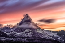 Another Brilliant Sunset Over the Matterhorn this past Summer