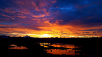Another crisp gorgeous morning at Columbia Slough Wetlands Oregon - A duplicate Mt Hood protruding down from the clouds