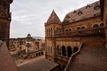 Another fairytale town The palace district in Bhuj Kachchh India