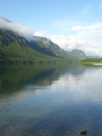 Another great unzip your tent and enjoy view - at Bohinjsko Jezero Lake Slovenia