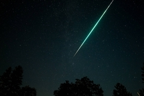 Another huge Perseid meteor as seen from the Sierra-Nevadas