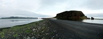 Another Pano from my trip to Iceland Driving into Vik