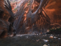 Another photo created from many stacked shots in the Narrows of Zion National Park  IG karphoto
