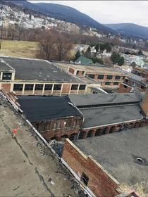 Another photo of the Scranton Lace Factory taken from the top of the clock tower