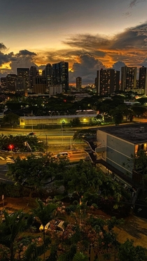 Another photo overlooking downtown Honolulu