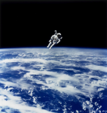 Another pic of Bruce McCandless making the first untethered space walk with the Manned Maneuvering Unit - pic by NASA