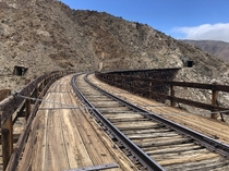 Another picture of a abandoned bridge in Southern California very long hike through large tunnels and over long bridges very worth it