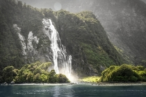Another shot of Bowen Falls Milford Sound New Zealand