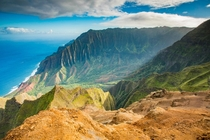 Another shot of Kalalau Valley from out on Kalepa Ridge This time a little wider and earlier