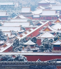 Another snow falls on the Forbidden City Beijing photo credit to cz_capture