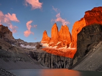 Another sunrise view from Torres del Paine Chile