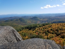 Another view from Mount Poke-O-Moonshine in the Adirondacks New York  Lake Champlain is in the distance to the left
