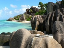 Anse Source dArgent beach on the island of La Digue in Seychelles