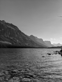 Ansel Adams inspired photo of St Marys Lake - Glacier National Park